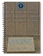 President Ronald Reagan Resting Place Spiral Notebook