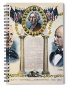 Presidential Campaign, 1892 Spiral Notebook