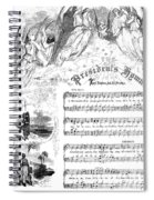 Presidents Hymn, 1863 Spiral Notebook