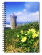 Primrose Flower In Foreground Spiral Notebook