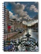 Prinsengracht And Leidsestraat. Amsterdam Spiral Notebook