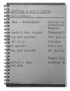 Prison Menu Spiral Notebook