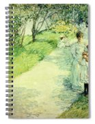 Promenaders In The Garden Spiral Notebook