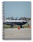 Propeller Plane Chicago Airplanes 10 Spiral Notebook