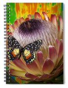 Protea With Speckled Butterfly Spiral Notebook