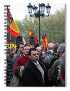 Protest In The Plaza Spiral Notebook