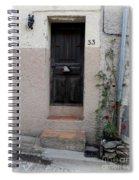 Provence Door Number 33 Spiral Notebook