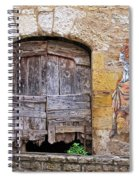 Provence Window And Wall Painting Spiral Notebook