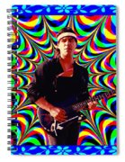 Psychedelia Within A Blue Framework Spiral Notebook