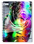 Psychedelic Black Lab With Kerchief Spiral Notebook