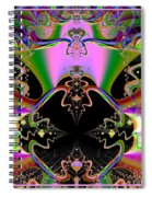 Psychedelic Blackhole Birthday Party Fractal 120 Spiral Notebook