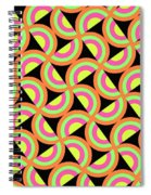 Psychedelic Squares Spiral Notebook