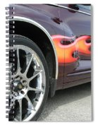 Pt With Flames Spiral Notebook