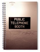 Public Phone Booth Spiral Notebook