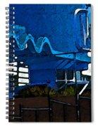 Pueblo Downtown Blue Abstract Spiral Notebook