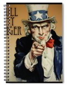 Pull My Finger Poster Spiral Notebook