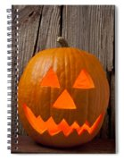 Pumpkin With Wicked Smile Spiral Notebook