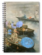 Punts On The Wey At Brooklands Spiral Notebook