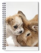 Pup And Rabbit Spiral Notebook