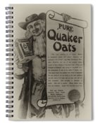 Pure Quaker Oates Spiral Notebook