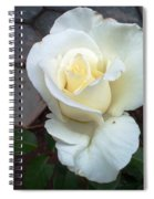 Pure White Rose Spiral Notebook