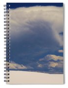 Pure White Sand And Mountain Storms Spiral Notebook