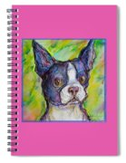 Purple Boston Terrier Spiral Notebook