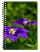 Purple Clematis Flower Spiral Notebook