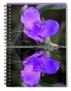 Purple Elegance - Spider Wort Spiral Notebook