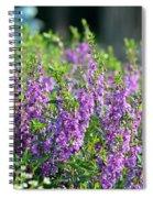Purple English Garden  Spiral Notebook