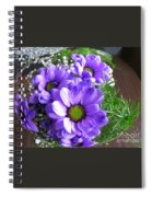 Purple Flowers In The Bubble Spiral Notebook