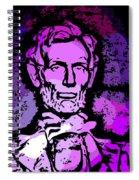 Purple Lincoln Spiral Notebook