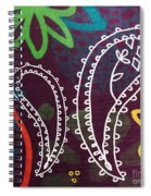 Purple Paisley Garden Spiral Notebook