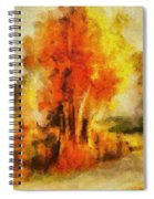 Purple Smoke Tree Spiral Notebook