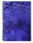 Purple Spiderweb Spiral Notebook