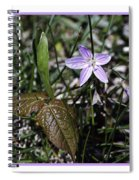 Purple Spring Trail Flower Spiral Notebook