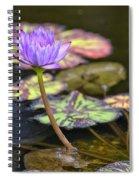 Purple Water Lilly Spiral Notebook