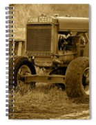 Put Out But Not Abandoned In Sepia Spiral Notebook