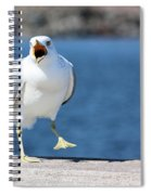 Putting His Foot Down Herring Gull Spiral Notebook