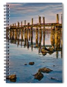 Pylons In Humboldt Bay Spiral Notebook