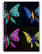 Quad Butterflies Spiral Notebook