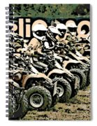 Quad Racers Spiral Notebook