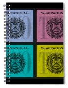 Quad Twos In Colors Spiral Notebook