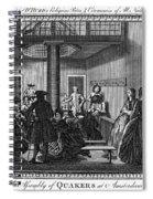 Quaker Meeting, C1790 Spiral Notebook