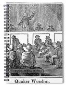 Quaker Worship, 1842 Spiral Notebook