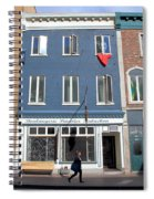 Quebec City Street View Spiral Notebook