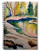 Quebec Winter Landscape Spiral Notebook