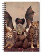 Queen Of Cats Spiral Notebook