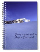 Quiet And Peaceful Christmas Spiral Notebook