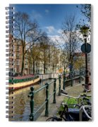 Raamgracht And Groenburgwal. Amsterdam Spiral Notebook